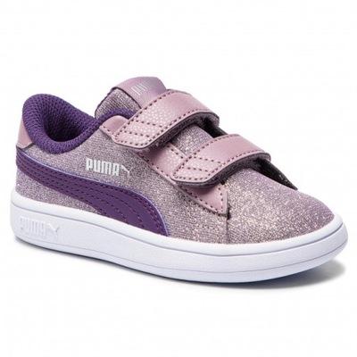PUMA Brokatowe Sneakersy Dziecięce R.33