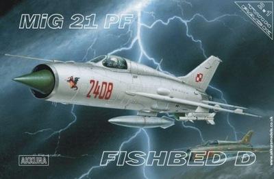 ДВЕ МОДЕЛИ! - AKKURA A005 Миг-21 PF Fishbed D x2!