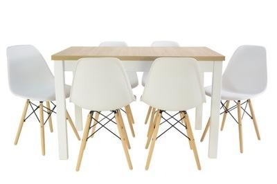 скандинавский Кухня стол 70x120 /160 и 6 стулья
