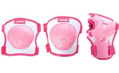 Ochraniacze na rolki Croxer Neve Pink XS - Zestaw