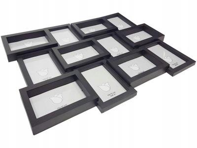 photo Frame fotorámik pre 12 fotiek čiernej a bielej