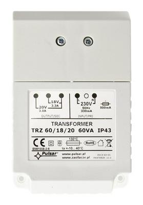 TRANSFORMER PULSAR AWT682 TR 60VA 18V/20V-IP43