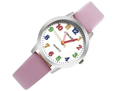 Z160 Zegarek Dziecięcy Dziewczynki KOLOROWE RÓŻOWY