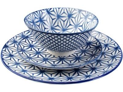 MAROCCO Blue комплект столовый сервиз 18 элем 6 человек