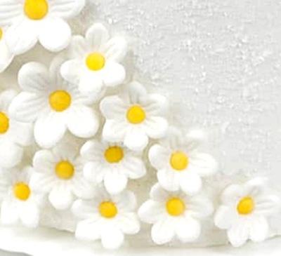 ЦВЕТЫ PRYMULKI сахарные белое ТОРТ 10 штук
