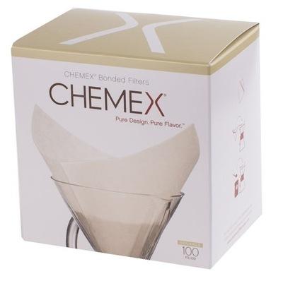 Chemex фильтры бумажные 100 штук - 6 ,8 ,10 чашек