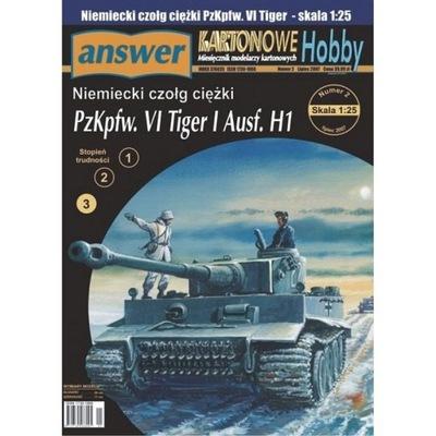 Ответ 5 /07 немецкий танк TIGER I Ausf.H1 1 :25