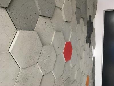 Соты, HEX , бетон архитектурный 3D