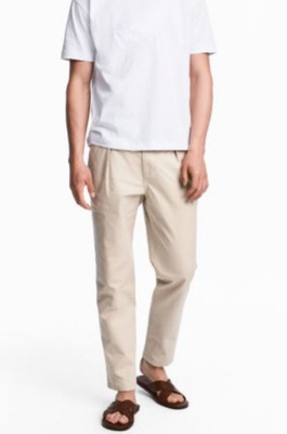 Spodnie Chinos Relaxed fit H&M r.54