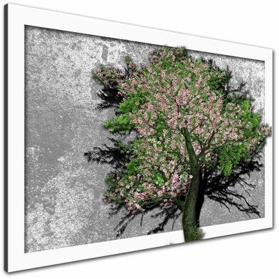 Изображение на холст 120х80 Дерево цветные