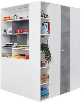 мебель Sigma 1, большая шкаф гардероб Угловой выдвижных ящиков