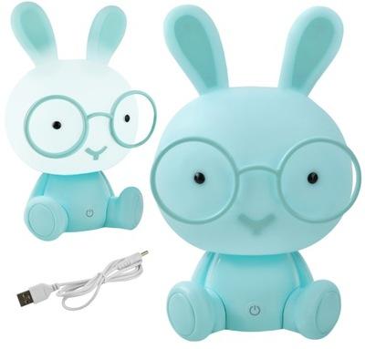 лампа Ночная для Детей Кролики 3 Режимы 30см LED
