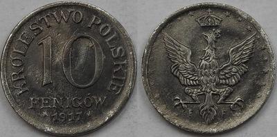 10 пфеннигов 1917 mennicza Царство  (1 )