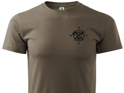 Brązowa koszulka T-shirt outdoor bushcraft EDC