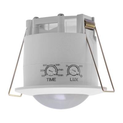 Snímač pohybu OČÍ, pastvou pre zabudovanie 360 a pre LED