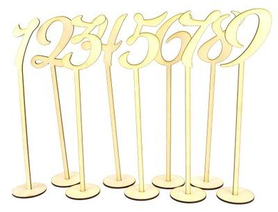 Numery na stół, cyferki drewniane wesele nr. 1-15