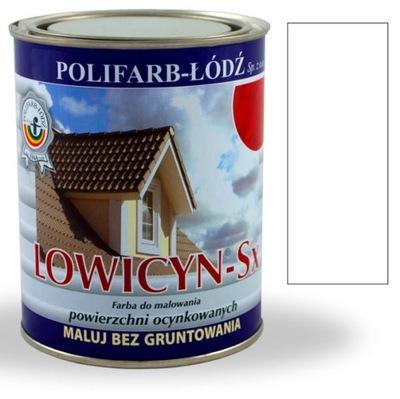 Lowicyn Sx farby na strechu LESK BIELA, RAL9003 10 L