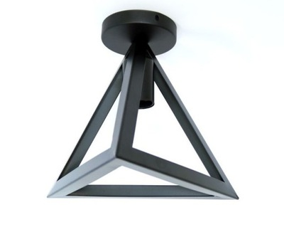 prívesok Lampa stropný luster Loft E27 LED trojuholník