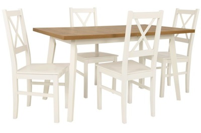 скандинавский комплект стол 80 /140/180 и 4 стулья