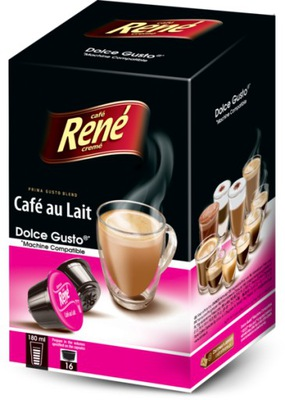 Rene капсулы Dolce Gusto Cafe au Lait 16 штук