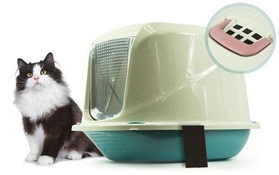 кювета с фильтром ТУАЛЕТ КРЫТЫЙ ДЛЯ кошек НА НАПОЛНИТЕЛЬ