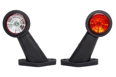 Lampa obrysowa obrysówka LED biało czerwona FT-009