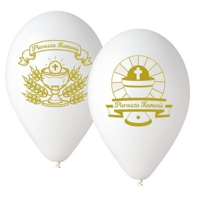 Воздушные шары Komumią Причастия с рисунком -Гостия 5 штук .