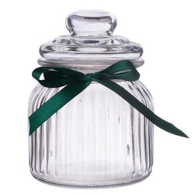 OZDOBNY SŁOIK Pojemnik szklany na PREZENT 650 ml
