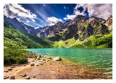 Fototapeta 3D góry jezioro tatry 416x290 F00760