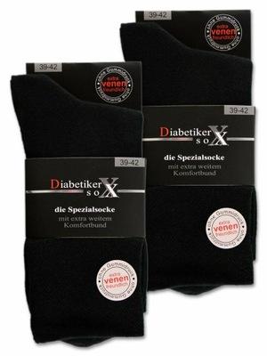 Skarpety bez uciskowe dla diabetyków 39-42.