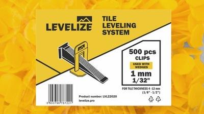 Zestaw 500 klips - 1mm LEVELIZE - 1