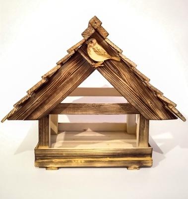 Karmnik drewniany- duży -dla ptaków zimujących