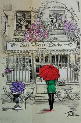 LOUI JOVER AU VIEUX plakat 61x91cm