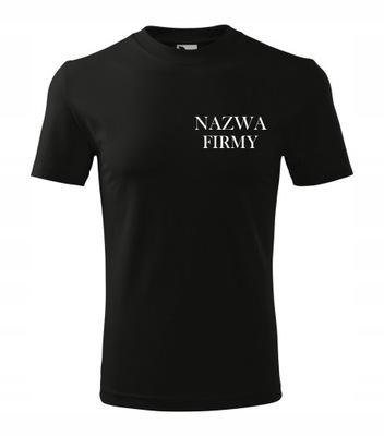 Koszulka T-shirt z logo / nazwą firmy przód i tył!
