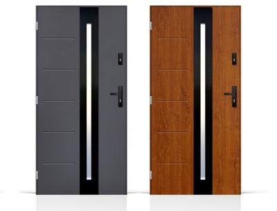 двери Внешние входные black Inox 80 /90