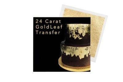 золото съедобные - Sugarflair - я, 83 x 83 мм