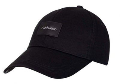 CALVIN KLEIN CZAPKA Z DASZKIEM BB CAP BLACK