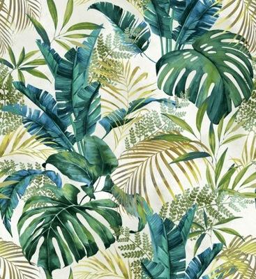 Коллекция Тканей велюр Velvet лист jungle 150см