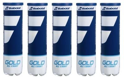 Piłki tenisowe Babolat Gold All Court 4B 5 puszek