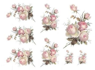 бумага рисовый A4 бумаги рисовые розочки винтаж цветок