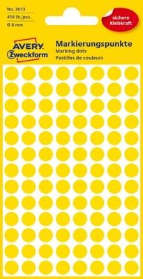 Kółka do zaznaczania 8 mm, żółte, 96 etyk./op.