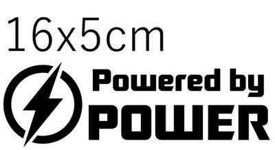 НАКЛЕЙКА НА ЭЛЕКТРИКА POWERED BY POWER 16X5