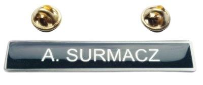 Nazwisko na mundur galowy OSP Straż 3d Oryginał