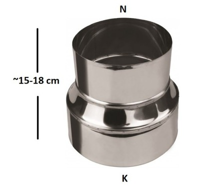 Redukcja kwasoodporna K/N 130/100 / gr. 0,5 mm