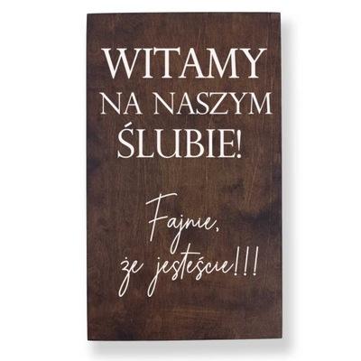 Tablica Powitalna Dekoracje Ślub i Wesele 40x70