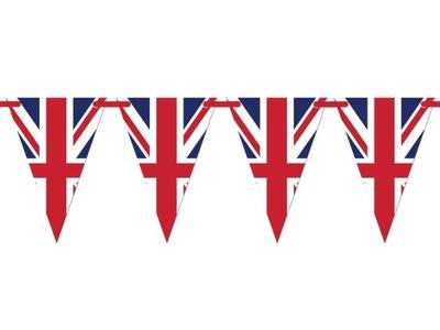 Baner wiszący flagi Wielkiej Brytanii 500cm