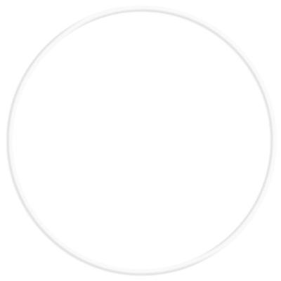 Obręcz metalowa koło do łapacza snów 60 cm biała
