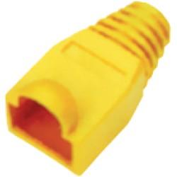 Osłona osłonka gumowa wtyku RJ45 żółta 50szt