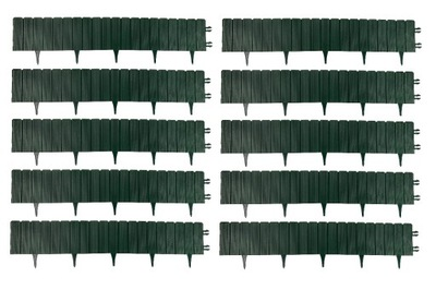 Obrzeże trawnikowe EKO-PALISADA ZIELONA 1m x 30szt