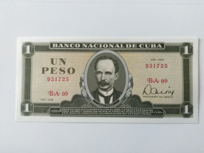 KUBA 1 PESO 1979 P102b (0-3037)